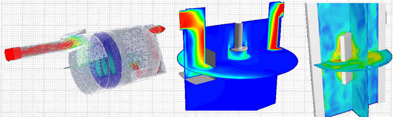 Slider numerische Strömungssimulation CFD