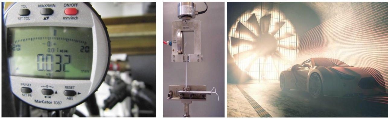 Messungen Windkanal, Wasserkanal, Prototypentests, Zugversuche, Materialtests