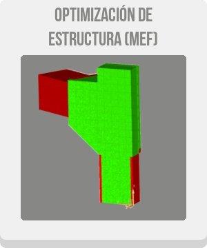 botón de optimización de la topología de optimización de la estructura