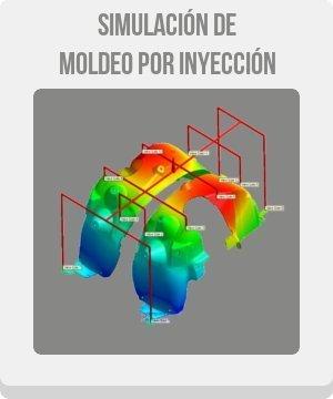botón de simulación de moldeo por inyección