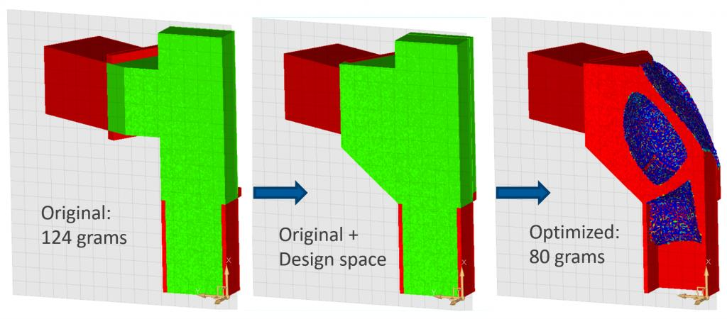 Optimization of the component structure
